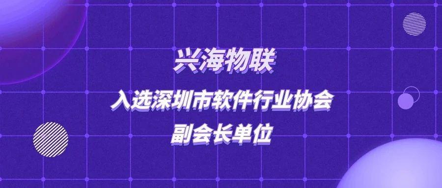喜报!兴海物联入选深圳市软件行业协会副会长单位